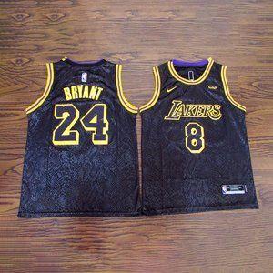 Los Angeles Lakers #8 #24 Kobe Bryant Black Jersey